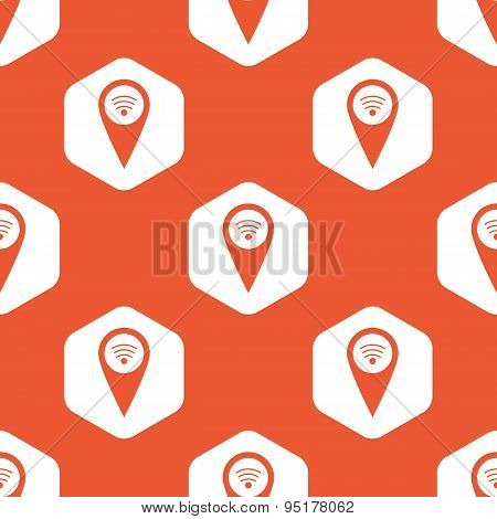 Orange hexagon Wi-Fi pointer pattern