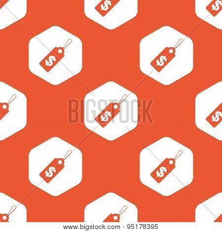 Orange hexagon dollar price pattern