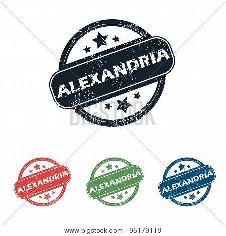Round Alexandria city stamp set