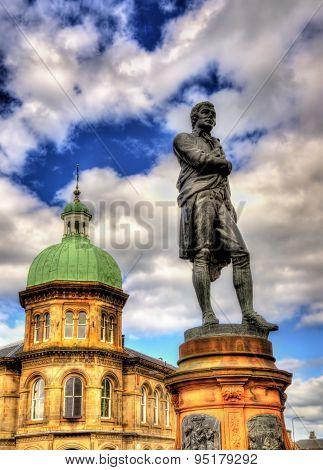 Statue Of Robert Burns In Leith - Edinburgh, Scotland