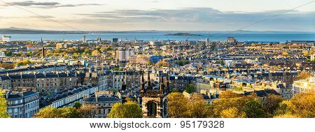 Panorama Of Edinburgh From Calton Hill - Scotland