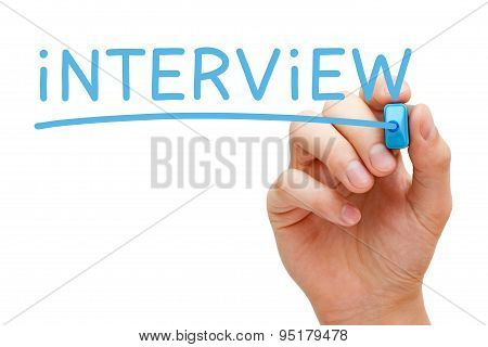 Interview Blue Marker