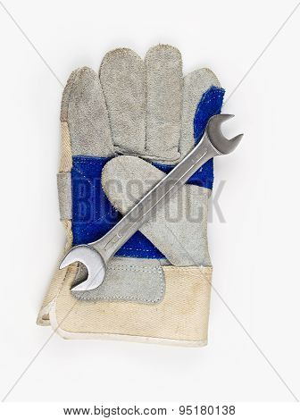 Gloves And Wrench