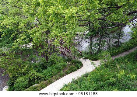 Paved Walkway Along the Bear River