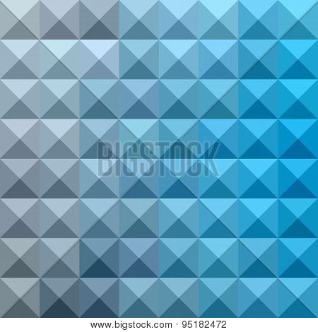 Bright Cerulean Blue Abstract Low Polygon Background