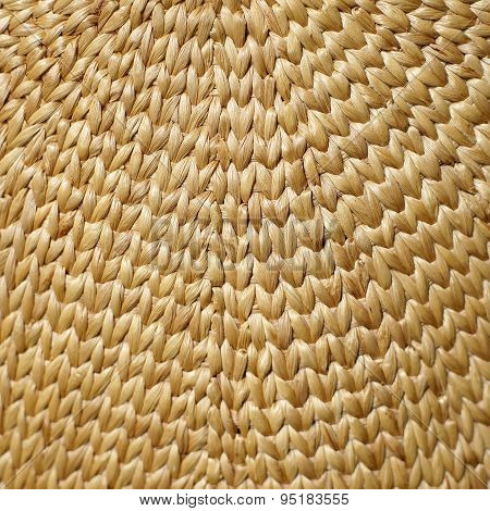 Woven Wood As Background