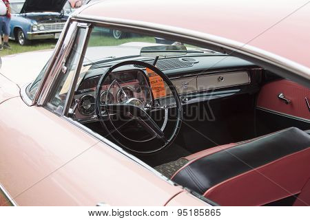 1959 Pink Dodge Coronet Car Interior View
