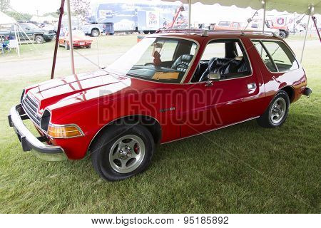 1979 Red Amc Pacer Car Side View