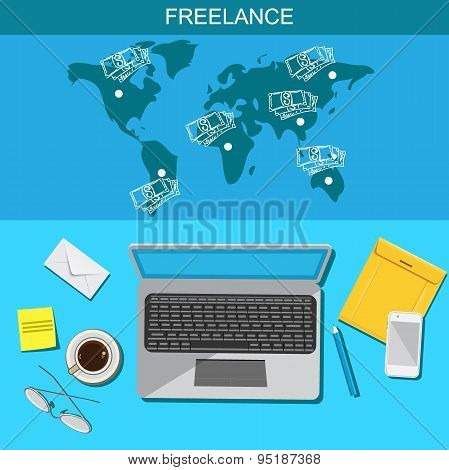 Freelance, infographic, template