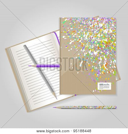 Notebook. Colourful Explosion.