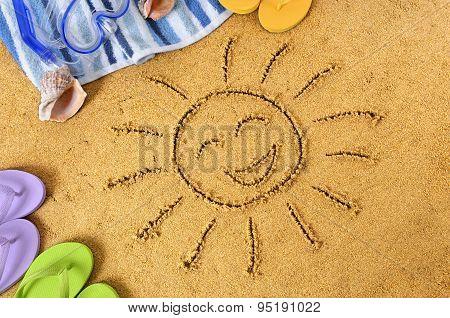 Smiley Face Beach Sun