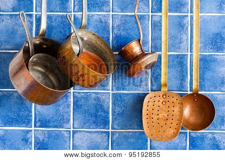 Vintage Copper Utensils