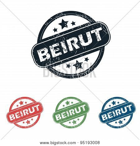 Round Beirut city stamp set