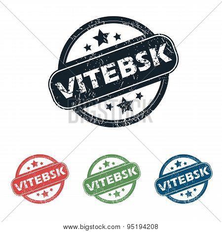 Round Vitebsk city stamp set
