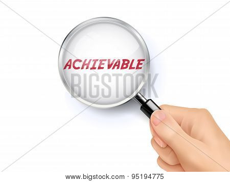 Achievable Word Showing Through Magnifying Glass