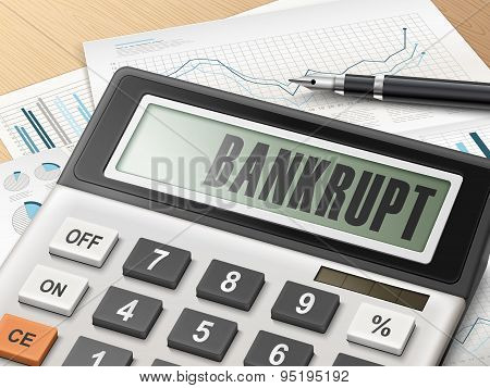 Calculator With The Word Bankrupt
