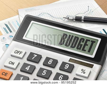 Calculator With The Word Budget