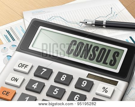 Calculator With The Word Consols