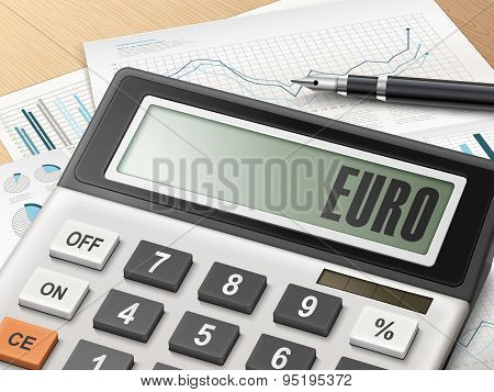 Calculator With The Word Euro