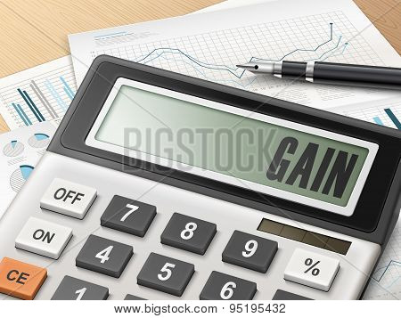 Calculator With The Word Gain