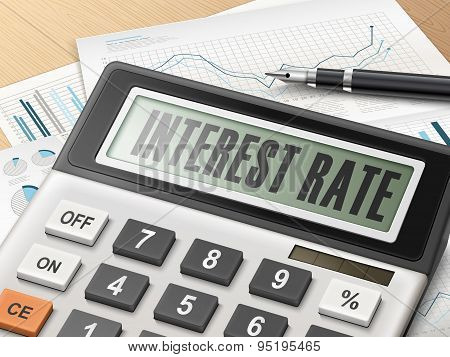 Calculator With The Word Interest Rate