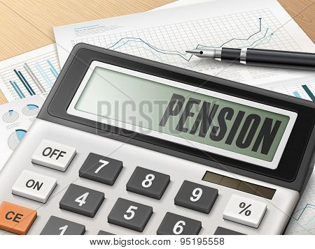 Calculator With The Word Pension