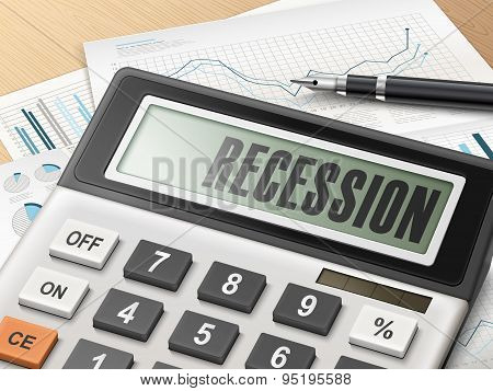 Calculator With The Word Recession