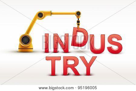Industrial Robotic Arm Building Industry Word