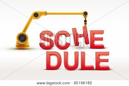 Industrial Robotic Arm Building Schedule Word