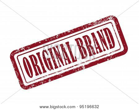 Stamp Original Brand In Red Text On White