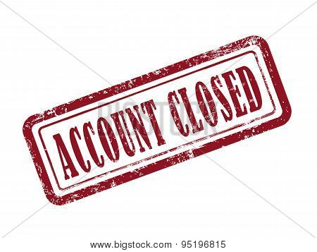 Stamp Account Closed In Red