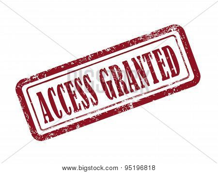 Stamp Access Granted In Red