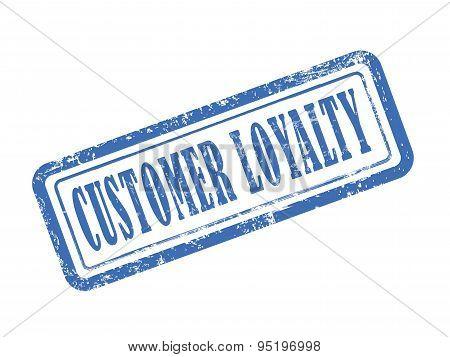 Stamp Customer Loyalty In Blue