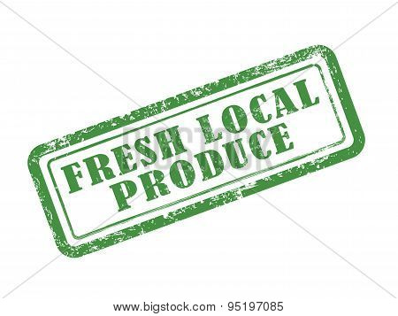 Stamp Fresh Local Produce In Green