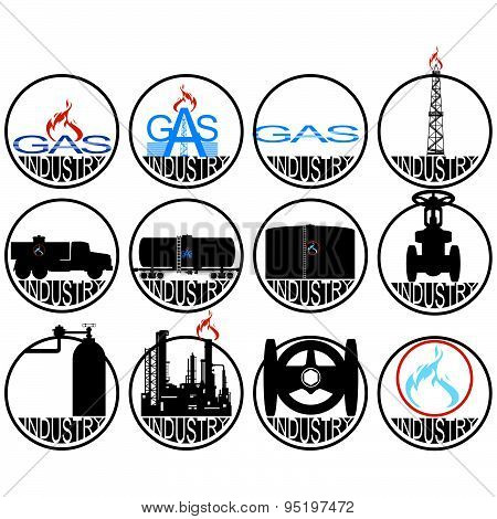 Icons gas industry