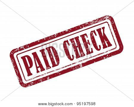 Stamp Paid Check In Red