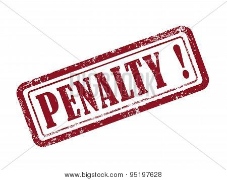 Stamp Penalty In Red
