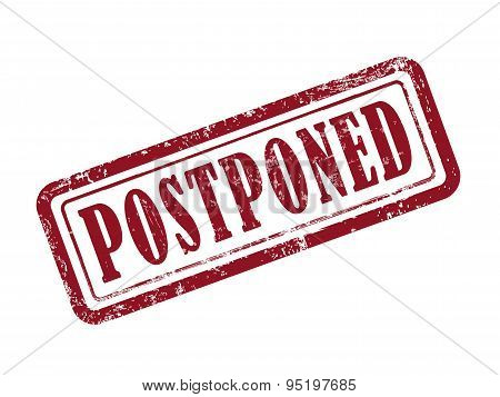 Stamp Postponed In Red