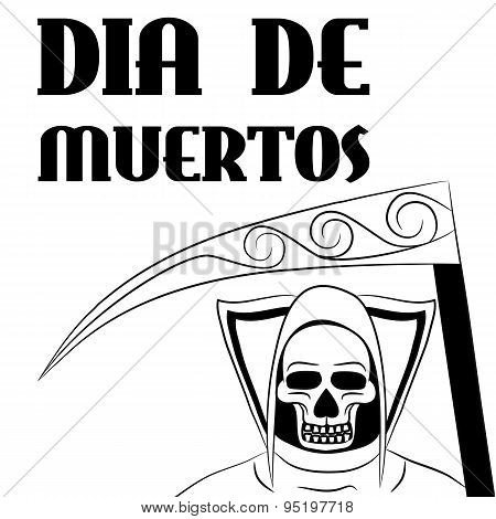 Dia De Muertos - Mexican Day Of The Death Spanish Text