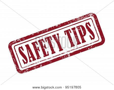 Stamp Safety Tips In Red