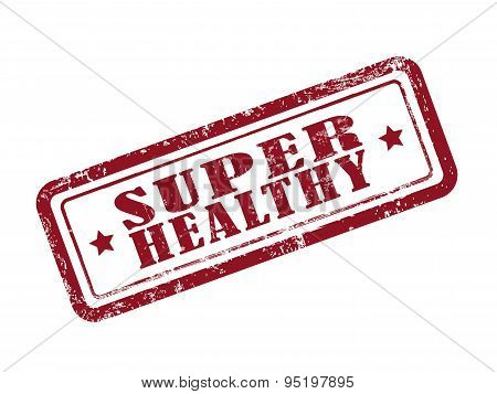 Stamp Super Healthy In Red