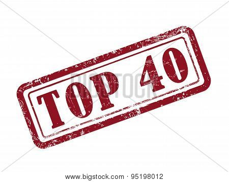 Stamp Top 40 In Red