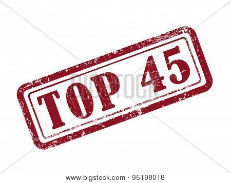 Stamp Top 45 In Red