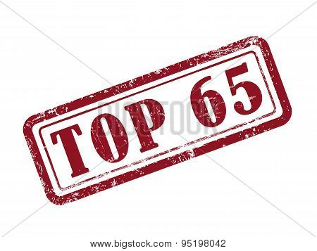 Stamp Top 65 In Red