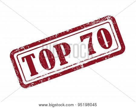 Stamp Top 70 In Red