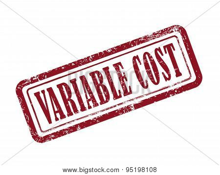 Stamp Variable Cost In Red