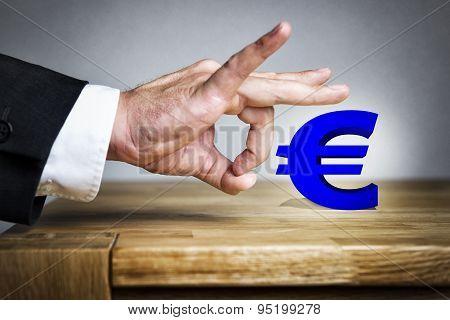 Man Shoots Euro Sign Off