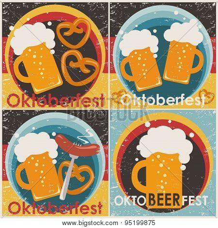Oktoberfest backgrounds, set.