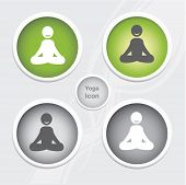foto of budha  - Health and Fitness icons set  - JPG