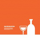 image of alcoholic drinks  - Background with seamless pattern - JPG